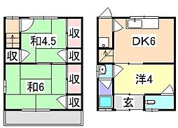 [タウンハウス] 兵庫県姫路市勝原区朝日谷 の賃貸【/】の間取り