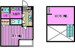 ヴィラ東浦和[2階]の間取り
