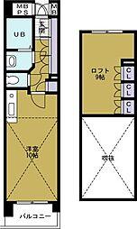 PIER624[10階]の間取り