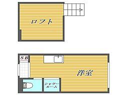 東京都豊島区千早4丁目の賃貸アパートの間取り