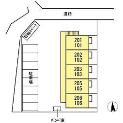 仮 D−room入谷[203号室]の外観