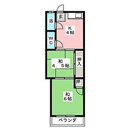 ことぶき荘[2階]の間取り