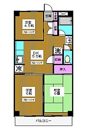 東京都練馬区北町3丁目の賃貸マンションの間取り