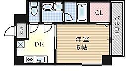 大阪府大阪市此花区伝法3丁目の賃貸マンションの間取り
