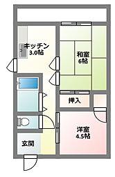 [テラスハウス] 大阪府寝屋川市宝町 の賃貸【/】の間取り