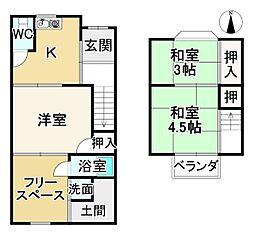 京福電気鉄道嵐山本線 帷子ノ辻駅 徒歩9分 3Kの間取り