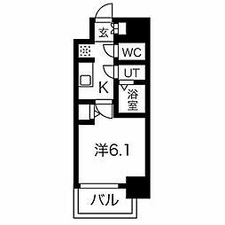 名古屋市営東山線 今池駅 徒歩6分の賃貸マンション 7階1Kの間取り