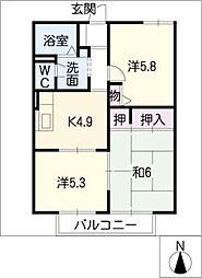 セピアコート B棟[2階]の間取り