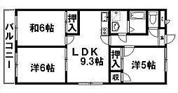 静岡県浜松市東区半田山5丁目の賃貸マンションの間取り