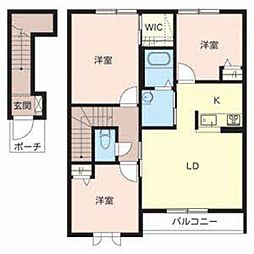 シャーメゾン田井[A202号室]の間取り