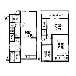 [一戸建] 北海道札幌市豊平区中の島二条10丁目 の賃貸【/】の間取り