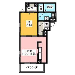 荒井アパートB(仮)[2階]の間取り