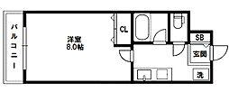 コンフ東中島[4階]の間取り