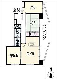 第5水光ビル[8階]の間取り