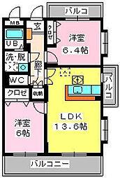 ピオーネ大神3[2階]の間取り