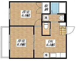 Maison du Bonheur[202号室]の間取り