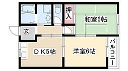 愛知県名古屋市天白区梅が丘4丁目の賃貸アパートの間取り