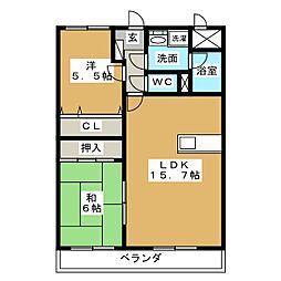 アートプレイス大和町[3階]の間取り