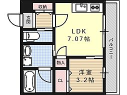 プルミエ京口[0304号室]の間取り