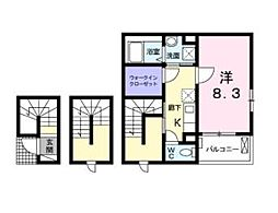 KKNI[2階]の間取り