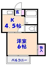 コーポコマツ[2階]の間取り