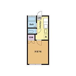 サンライズA[2階]の間取り