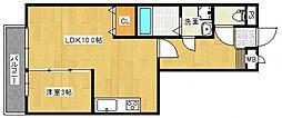 レジデンスTamaya A[2階]の間取り