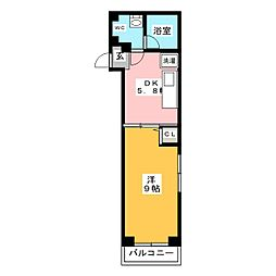 HOUSE-TM 1階1DKの間取り