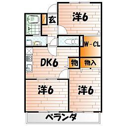 フィールド・ワン[4階]の間取り