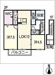 仮)D−room月ノ会[2階]の間取り