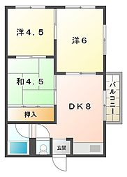 大日松原マンション[5階]の間取り