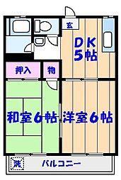 田島コーポ[102号室]の間取り