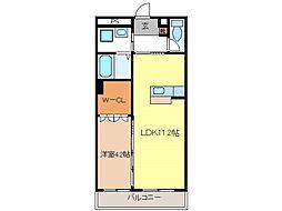 JR信越本線 長野駅 徒歩6分の賃貸マンション 2階1LDKの間取り