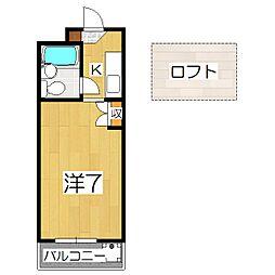CIEUX京都[406号室]の間取り