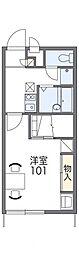 レオパレスウイングコートヤチヨ[1階]の間取り