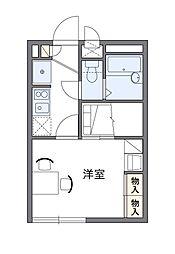 西武池袋線 仏子駅 徒歩11分の賃貸アパート 2階1Kの間取り