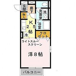 コゥジィーコートII[2階]の間取り