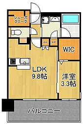 グランフォーレ小倉シティタワー 5階1LDKの間取り