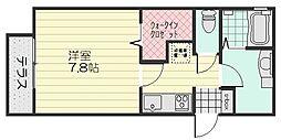 D-room下祇園駅前[1階]の間取り