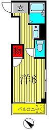 シティハイツクリハラ[2階]の間取り