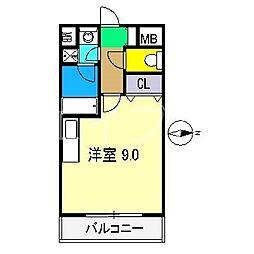 アスターハウス新本町[3階]の間取り