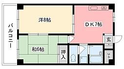 カサベージュ西田町[S102号室]の間取り