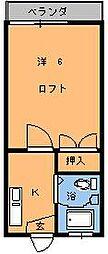 インペリアルエスケイ1[102号室]の間取り