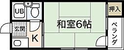 LUXES国泰寺[5階]の間取り