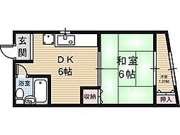 関西ハイツ[3階]の間取り