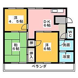 三善マンション[3階]の間取り