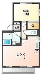 スリーOK (スリーオーク)[2階]の間取り