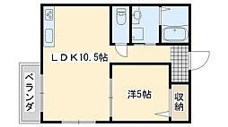 関空アスカ[201号室]の間取り