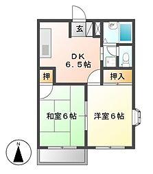 前田ビューハイツII[2階]の間取り