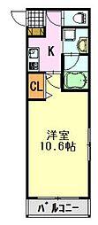 メゾンド亀岡[2階]の間取り